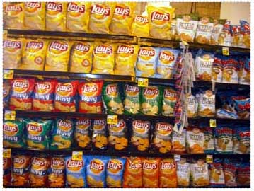 Grocery Chip Display Rack